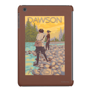 Pesca con mosca de las mujeres - Dawson, Alaska Funda De iPad Mini