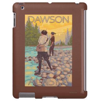Pesca con mosca de las mujeres - Dawson, Alaska Funda Para iPad