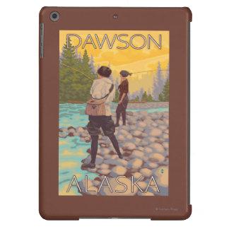Pesca con mosca de las mujeres - Dawson, Alaska Funda Para iPad Air