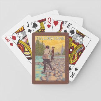 Pesca con mosca de las mujeres - parque nacional cartas de póquer