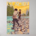 Pesca con mosca de las mujeres - Parque Nacional G Poster