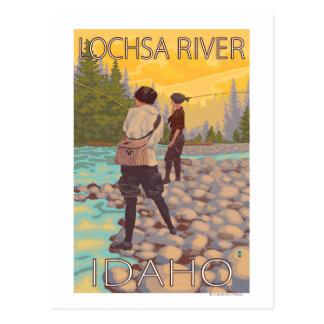 Pesca con mosca de las mujeres - río de Lochsa, Postales
