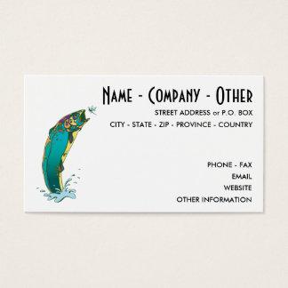 Pesca con mosca del personalizar tarjeta de negocios
