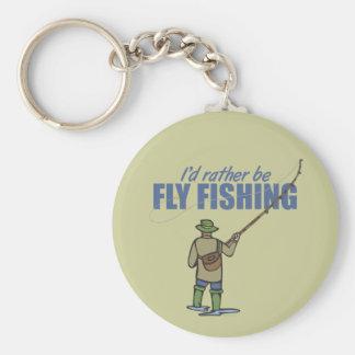 Pesca con mosca en aves zancudas llavero redondo tipo pin