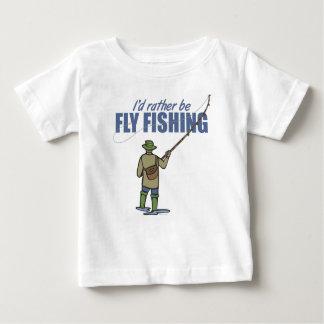 Pesca con mosca en aves zancudas playera de bebé