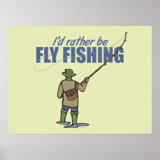 Pesca con mosca en aves zancudas póster