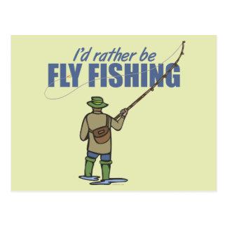 Pesca con mosca en aves zancudas tarjeta postal