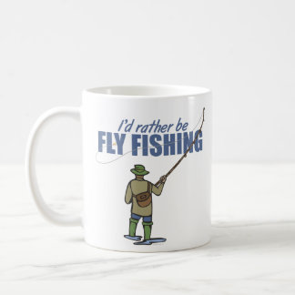Pesca con mosca en aves zancudas taza de café