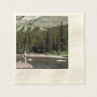 Pesca con mosca en las montañas rocosas de Alberta Servilleta De Papel