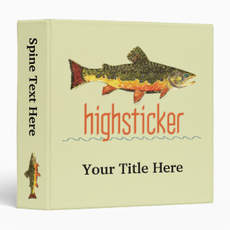 """Pesca con mosca Highsticker Carpeta 1 1/2"""""""