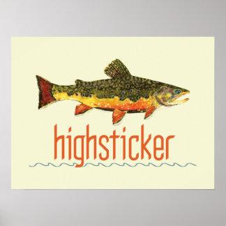 Pesca con mosca Highsticker Póster