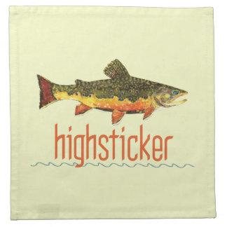 Pesca con mosca Highsticker Servilleta