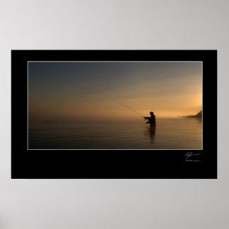 Pesca con mosca la costa danesa impresiones