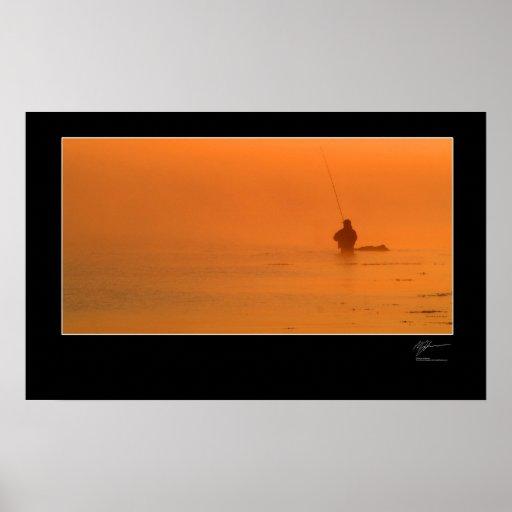 Pesca con mosca la costa danesa posters