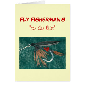 """Pesca con mosca """"para hacer"""" la tarjeta """"dun de la"""
