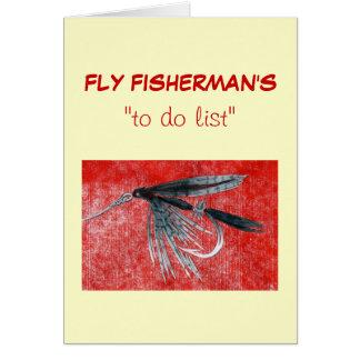 """Pesca con mosca """"para hacer"""" la tarjeta """"mosquito"""