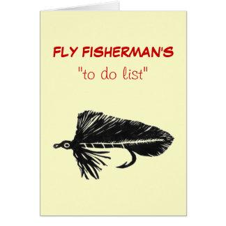 """Pesca con mosca """"para hacer"""" la tarjeta """"negro"""
