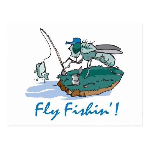 Pesca con mosca postales