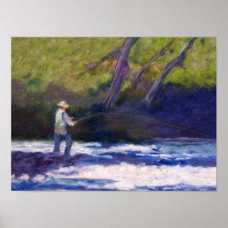 Pesca con mosca póster