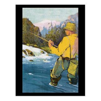 pesca con mosca Pstcard Tarjetas Postales