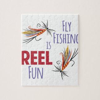 Pesca con mosca rompecabezas