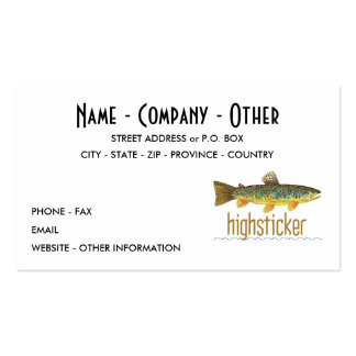 Pesca con mosca plantillas de tarjetas de visita