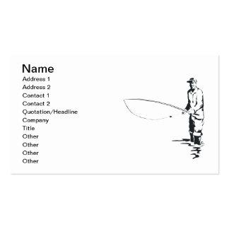 Pesca con mosca tarjetas de negocios