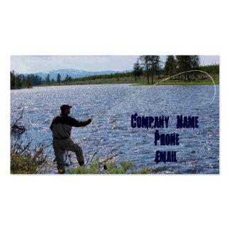 Pesca con mosca tarjetas de visita