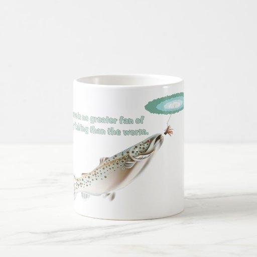 Pesca con mosca tazas de café