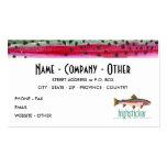 Pesca con mosca - trucha arco iris tarjetas de visita