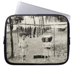 Pesca de 1890 chicas funda portátil