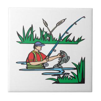 Pesca de 2 teja  ceramica