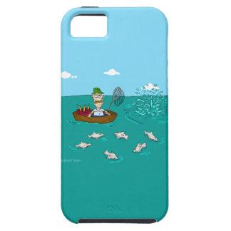 Pesca de chiste con dinamita iPhone 5 cárcasa