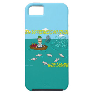 Pesca de chiste con dinamita iPhone 5 Case-Mate cárcasa