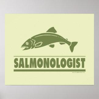 Pesca de color salmón posters