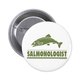 Pesca de color salmón pin redondo 5 cm