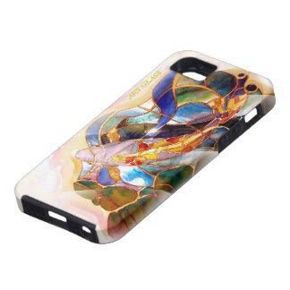 Pesca de cristal de Koi del japonés del arte Funda Para iPhone 5 Tough