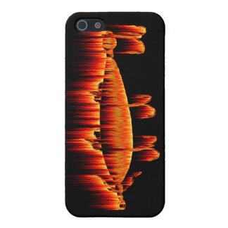 Pesca de diseño de la llama del señuelo iPhone 5 carcasas