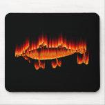 Pesca de diseño de la llama del señuelo alfombrilla de ratones
