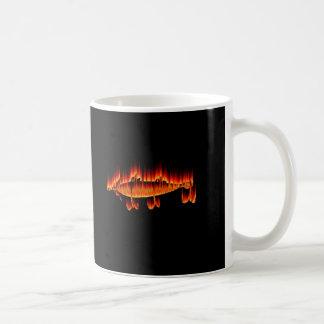 Pesca de diseño de la llama del señuelo taza clásica