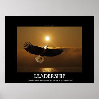Pesca de Eagle calvo y del poster de motivación de