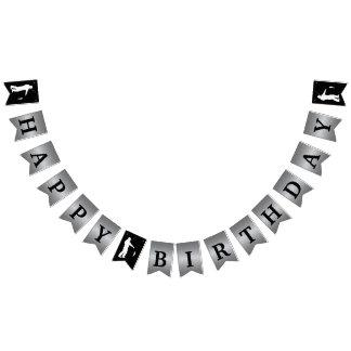 Pesca de la bandera temática del feliz cumpleaños
