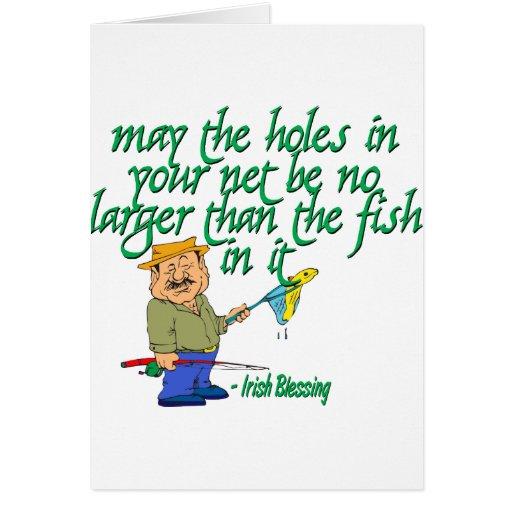 Pesca de la bendición irlandesa felicitacion