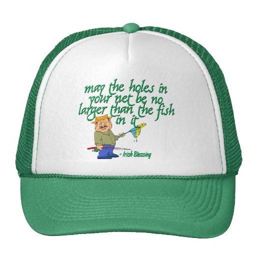 Pesca de la bendición irlandesa gorras