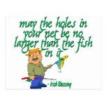 Pesca de la bendición irlandesa postal
