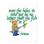 Pesca de la bendición irlandesa tarjeta postal