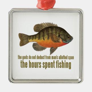 Pesca de la brema ornamento para arbol de navidad