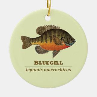 Pesca de la brema del Lepomis macrochirus Adornos De Navidad