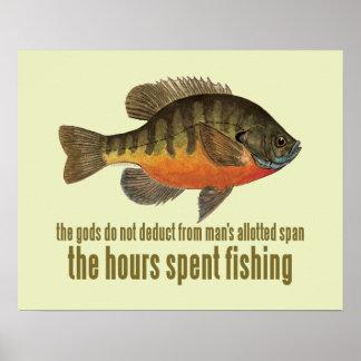 Pesca de la brema posters