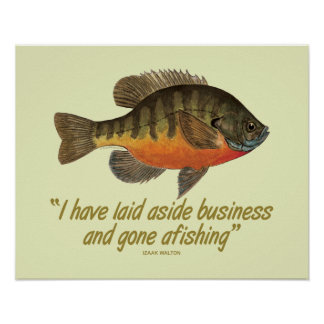 Pesca de la brema impresiones